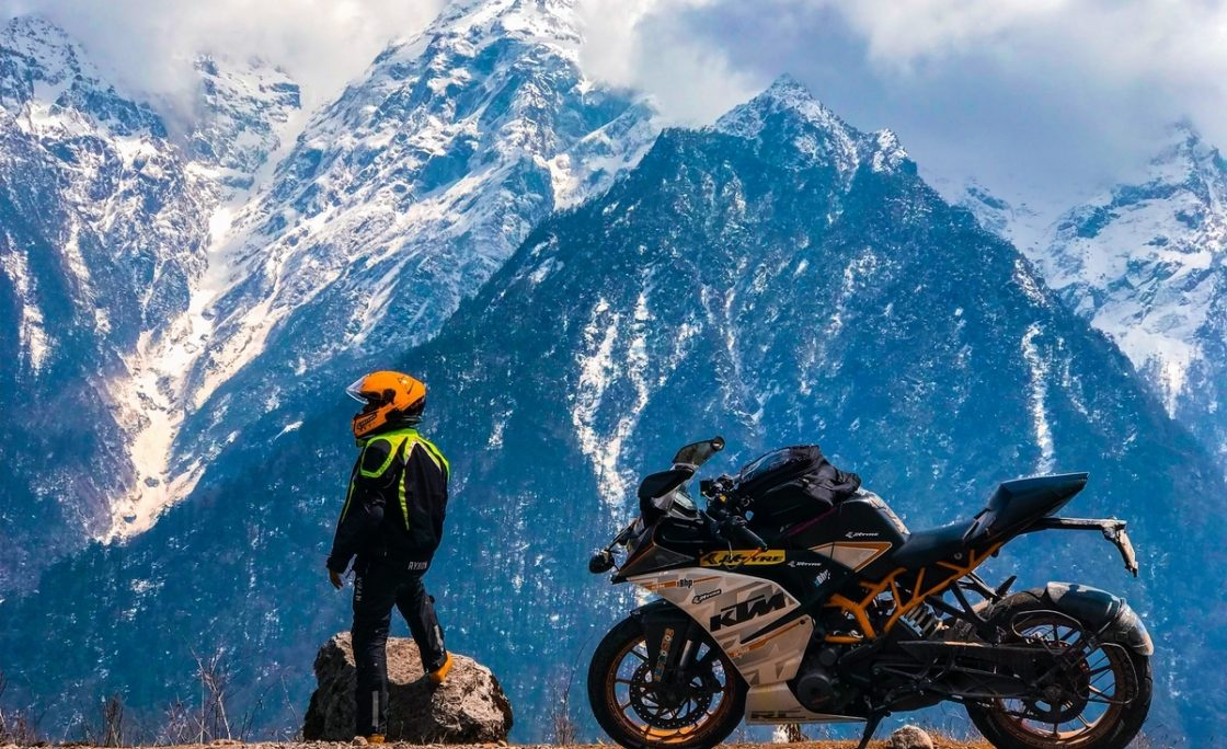 Make an adventure bike trip to north sikkim