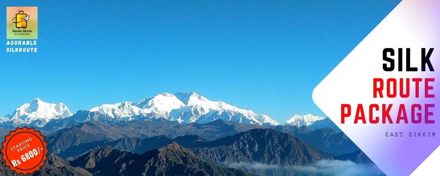 Mt. Kanchenjunga is clearly visible from Old Silk Route 9East Sikkim)